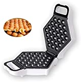 GCE Máquina eléctrica para Hacer gofres con Burbujas Cono de Helado para Tartas Eggettes Desayuno rápido Bandeja para Hornear Antiadherente para Postre Regalo para Cocina