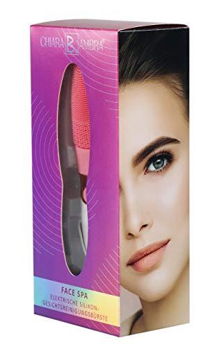 CHIARA AMBRA® Elektrische Silikon-Gesichtsreinigungsbürste, pink