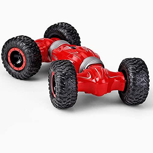 JIANGLL Coche de control remoto de doble cara para escalada, escala 1/16, 2.4G, vehículo RC todo terreno, neumáticos de goma antideslizantes al vacío, camión RC, juguetes de atletismo para niños y niñ