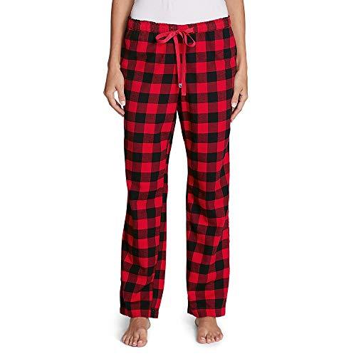 Eddie Bauer Women's Stine's Favorite Flannel Sleep Pants, Redwood Regular S