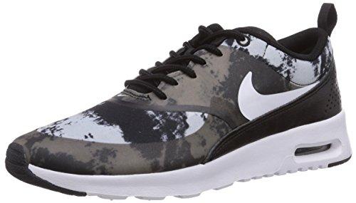 Nike Damen Air Max Thea Print Sneakers, Schwarz (Black/White-Dark Grey), 40.5 EU