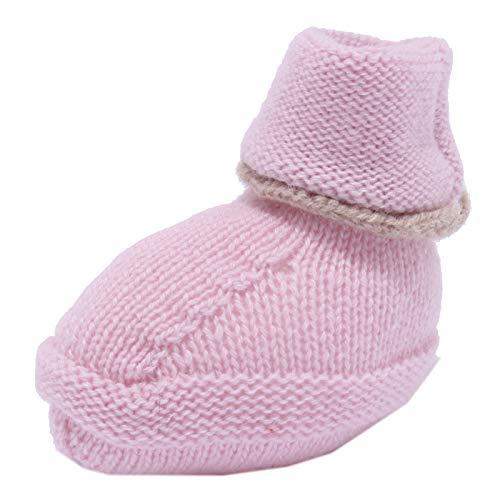 M. FERRARI 4123Y scarpine Lana pink Wool Newborn Shoe Girl [ONE Size]
