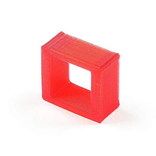 TAHMM Pieza de Repuesto 3D Impresa de la batería de la batería de la batería de lipo para RC Drone FPV Racing Uso para Fijar 2pcs 250-300mAh (Color : Red)