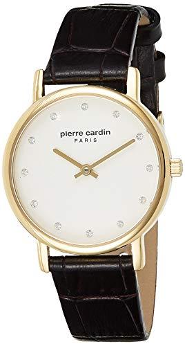 Pierre Cardin Reloj Analogico para Mujer de Cuarzo con Correa en Cuero PC108152F02