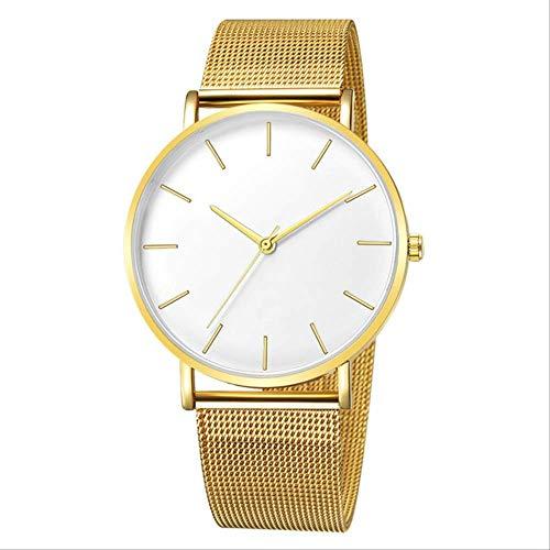 XYQY Frauen Uhr Frauen Mesh Edelstahl Armband Casual Armband Uhr für Frau Montre Femme Relogio Feminino 40mm Gold weiß