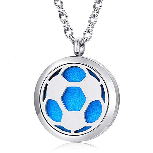 Preisvergleich Produktbild Ätherisches Öl Diffusor Halskettemode Weihnachten Schmuck Silber 30Mm Magnet Medaillon 316L Edelstahl Aromatherapie Öl Diffusor Halskette
