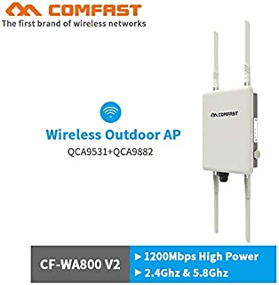Comfast 1200Mbps Dual Band 5Ghz High Power Outdoor AP 360degree omnidirectional Coverage Access Point Wifi Base Station ro...