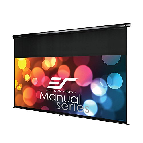 Elite Screens Manual Series, 95-INCH 2.35:1, Pull Down Manual Projector Screen with AUTO LOCK, Movie Home Theater 8K / 4K Ultra HD 3D Ready, 2-YEAR WARRANTY, M95UWC-E18