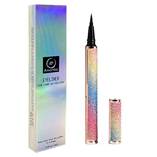 Amamba Liquid Liner makeup pen,Long-Lasting and Waterproof Eyeliner ,2 in 1 Self-adhesive Eyeliner (Colorful)