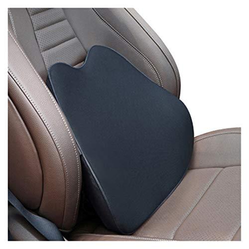 CHENZHEN Reposacabezas de cuello de almohada Memoria de cuello de almohada Soporte lumbar de algodón transpirable auto almohada almohada almohada almohada de asiento de coche ( Color : Cushion black )