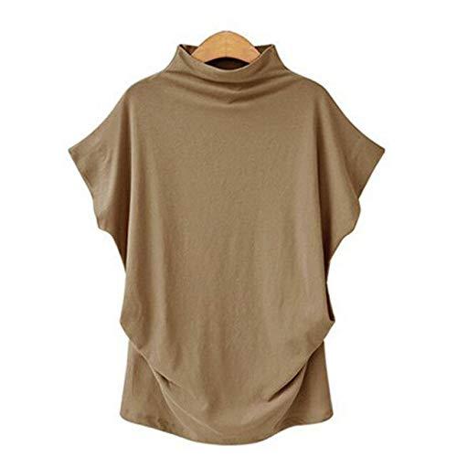 ADSIKOOJF Vrouwen Casual Zomer T Shirt Korte mouw Losse Topjes Effen Zwart Grijs Coltrui Tee Shirt 2020 T-Shirts Vrouwelijke Tees Tops