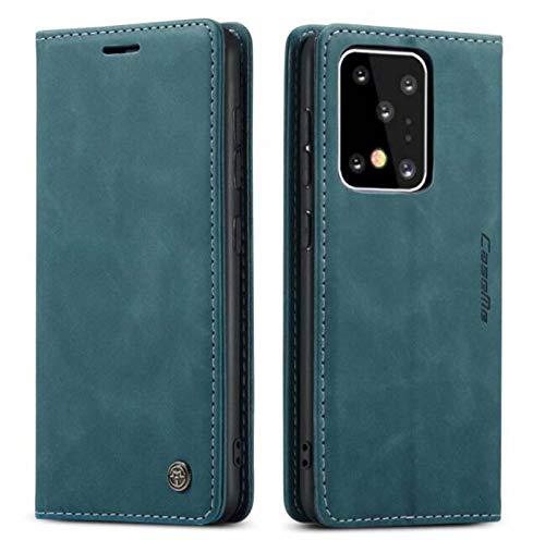 WODETIAN Funda Tipo Cartera para Samsung Galaxy S20/S20 Plus/ S20 Ultra De Piel Sintética Premium Estilo Vintage Mate con Ranuras para Tarjetas Cierre Magnético Función Atril,Verde,s20 Ultra