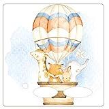 Farbklecks-Collection - Schutzfolie passend für Toniebox – Heissluftballon Familie 2