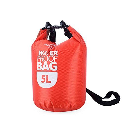 TRRE Voyage en plein air sacs étanches sac dérivantes snorkeling plage natation sac, 5L / 20L / 60L ( Couleur : Rouge , taille : 5L )