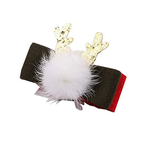 Wsliqrti Accesorios para el Cabello de Navidad Accesorios Pinzas para el Cabello para niños Material DIY Decoraciones navideñas, juerga Lazo Verde Hierba (20 Piezas)