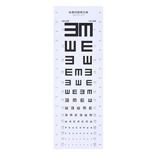 UKCOCO Tabla de visión plástica Gráfico de prueba visual para la escuela en casa (blanco)