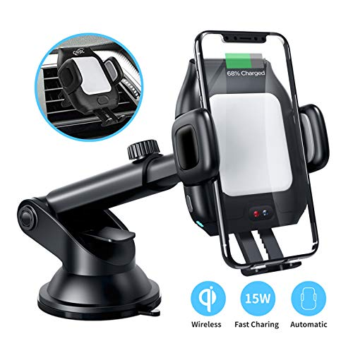 CNSL Fast Qi Wireless Car Charger Mount for Samsung Galaxy Phones