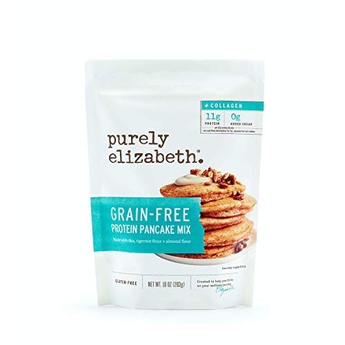 purely elizabeth Pancake & Waffle Mix - No Sugar Added, Certified NON-GMO & Gluten Free - Protein & Fiber Rich, 3 Pack