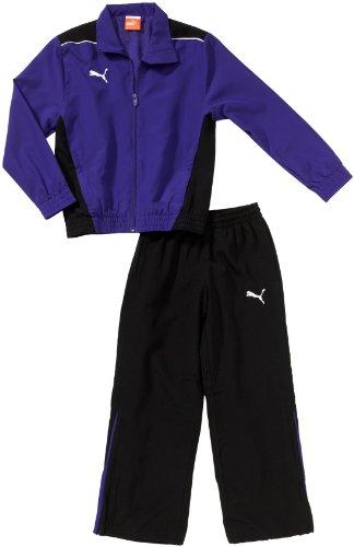 PUMA Kinder Trainingsanzug Foundation Woven Suit Präsentationsanzug, Team Violet/Black, 164