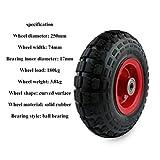Ruedas sólidas de goma ruedas del carro pesadas ruedas industriales Ruedas Silencio fácil llevar gravedad muy fuerte resistente al desgaste duradero