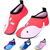 RJVW Boys and Girls Swim Water Shoes, Toddler Kids Swim Water Shoes Non-Slip Quick Dry Beach Shoes,Barefoot Sports Shoes Aqua Socks for Beach Outdoor Sports