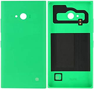 Battery case Jrc Solid Color Plastic Battery Back Cover for Nokia Lumia 730(Black) Mobile phone accessories (Color : Green)