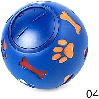 DORLIONA 1Pcs Pet Toy Food Dispenser Play Ball Bone Training Chew Rotate Switch Puppy Dog Feeders Supplies Red Blue ZDD238...