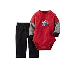 Carter/'s Baby Boys/' Hood Art 2-Piece Sweatsuit Pants Set