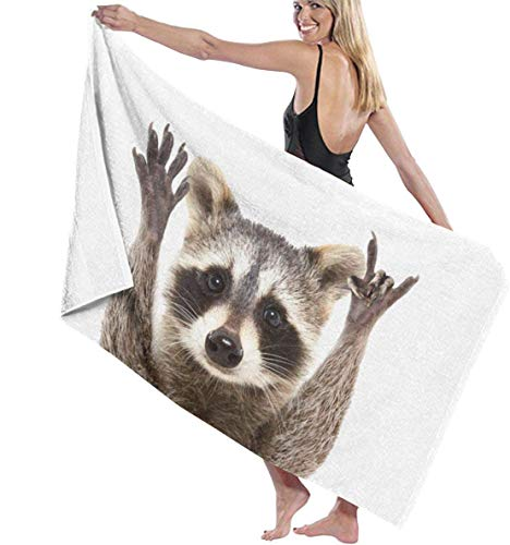 Ches Bademantel für Damen, Waschbär, Weiß, Siehe Abbildung, Einheitsgröße