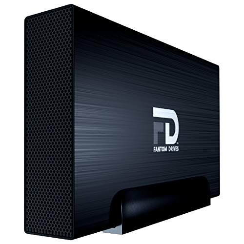 Fantom Drives 2TB 7200RPM External Hard Drive - USB 3.2 Gen 1 - 5Gbps - GForce 3 Aluminum - Black - Compatible with Mac/Windows/PS4/Xbox (GF3B2000UP) by Fantom Drives