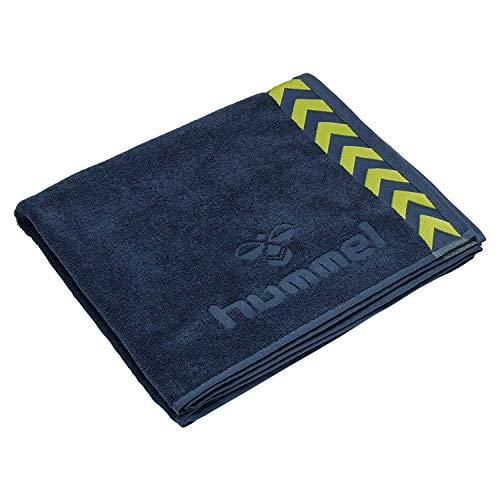 Hummel Handtuch Old School Large Towel 208805 Dark Denim/Lime Punch One Size