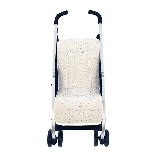 Colchoneta o funda de Paseo para silla Ligera Rosy Fuentes en color gris
