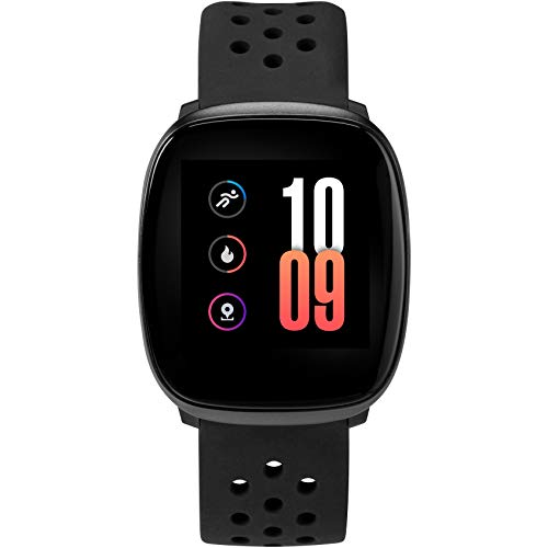 iConnect by Timex Premium Active Smartwatch with Touchscreen & Heart Rate 36mm – Black with Black Silicone Strap
