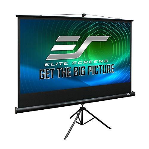 Elite Screens Tripod Series, 72-INCH 16:9, Indoor Outdoor Projector Screen, 8K / 4K Ultra HD 3D Ready, 2-YEAR WARRANTY, T72UWH