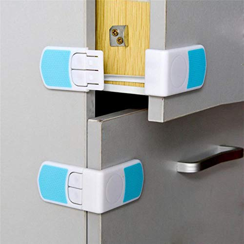 FTFSY 5Pcs Safety Plastic Children Protection Lock Cabinet Door Drawers Refrigerator Toilet Blockers Kids Baby Care Safety Locks Strap