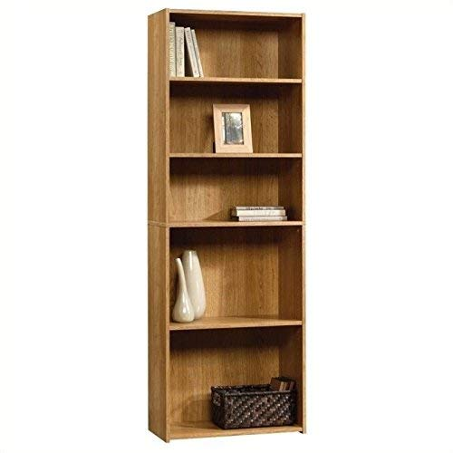 Sauder Beginnings 5-Shelf Bookcase, Highland Oak finish