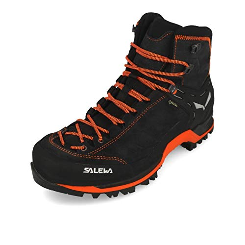 Salewa Herren MS Mountain Trainer Mid Gore-TEX Trekking- & Wanderstiefel, Asphalt/Fluo Orange, 43 EU