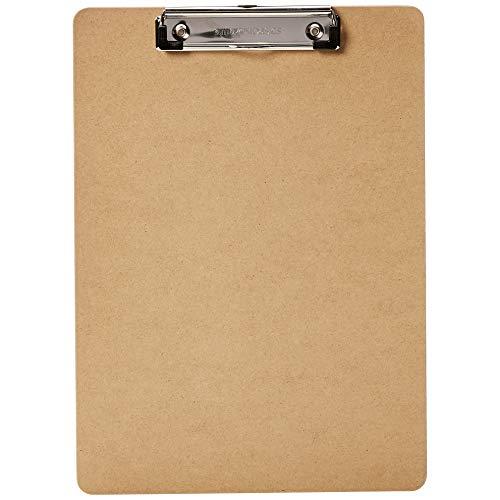 Amazon Basics - Portapapeles rígido, pack de 10