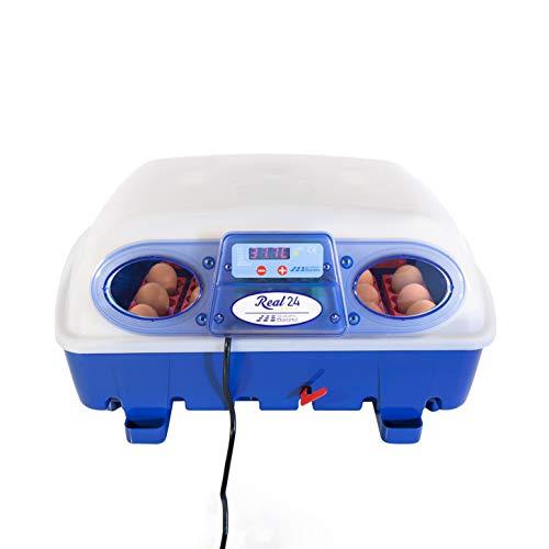 Borotto halbautomatische REAL 24 - Patentierte professionelle Brutmaschine mit Eierwender mit Hebel - für 24 Eier oder 96 kleine Eier
