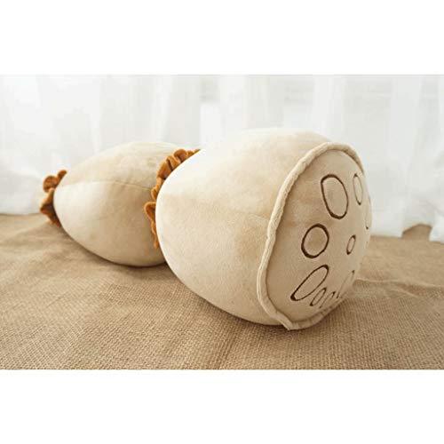 xinxinchaoshi Cojines estupenda de los niños (Que simula la raíz del Loto) Divertida la decoración del hogar de Peluche de Juguete Creativo Abrazo Almohada cojín del sofá Cojín Decorativo