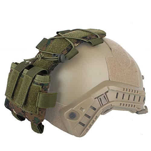 WTZWY Tactical Helmet Pouch MK2 Batteriekasten Gegengewichtstasche Remote Battery Helm Zubehör Aufbewahrungstasche mit Klettverschluss für die Jagd auf Paintball,Dw