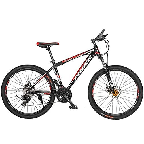 FBDGNG Mountain Bike per adulti da 26 pollici ruote Mountain Trail Bike telaio in lega di alluminio biciclette da esterno 21/24/27 velocità doppio freno a disco (dimensioni: 24 velocità)