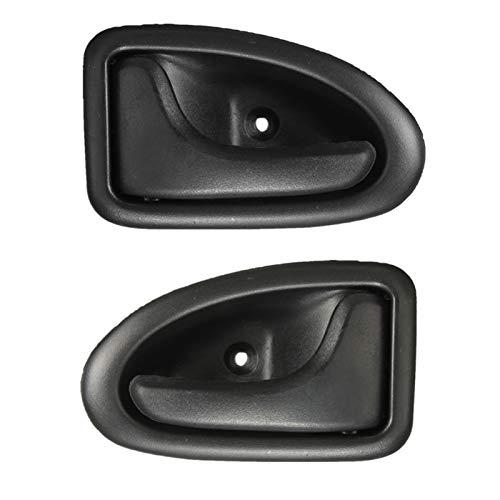 Ming Ming 2X Black Plastic Interior Puerta Perilla Manija Ajuste para Renault Clio 1999 En Adelante Megane 1998-2002 Scenic 1999-2005