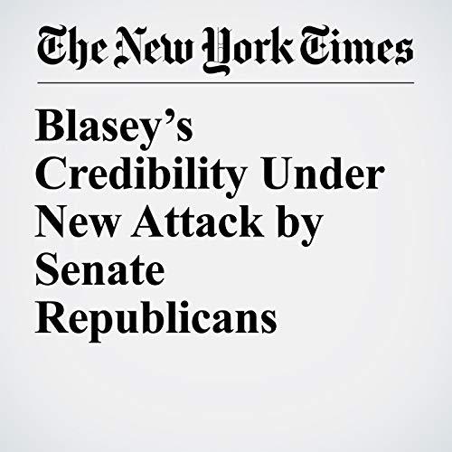 Blasey's Credibility Under New Attack by Senate Republicans copertina