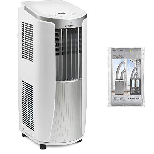 TROTEC 3-in-1-Klimagerät: Kühlung, Ventilation und Entfeuchtung 2,1 kW Kühlleistung lokales mobiles Klimagerät PAC 2010 E inkl. AirLock 1000