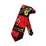 Mens Musical Wind Instrument Neck Tie