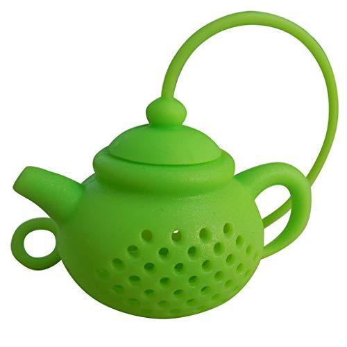 Jonerytime❤️Details About Teapot-Shape Tea Infuser Strainer Silicone Tea Bag Leaf Filter Diffuser (Green)