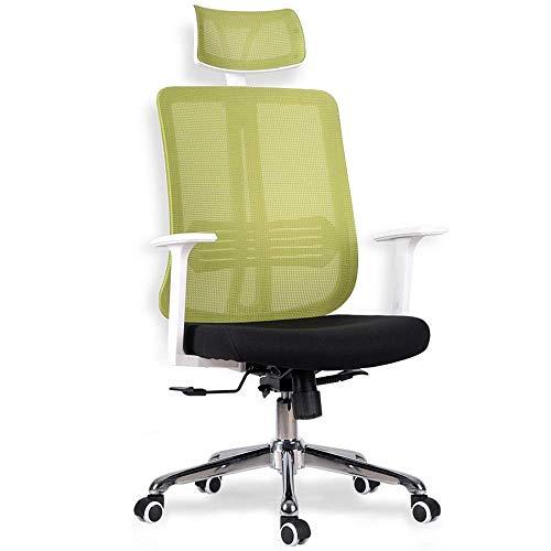 N/Z Tägliche Ausrüstung Schreibtischstühle Executive-Drehstuhl mit hoher Rückenlehne und verchromter Basis Geeignet für Büro- und Heimarbeitszimmermöbel (Farbe: Schwarz)