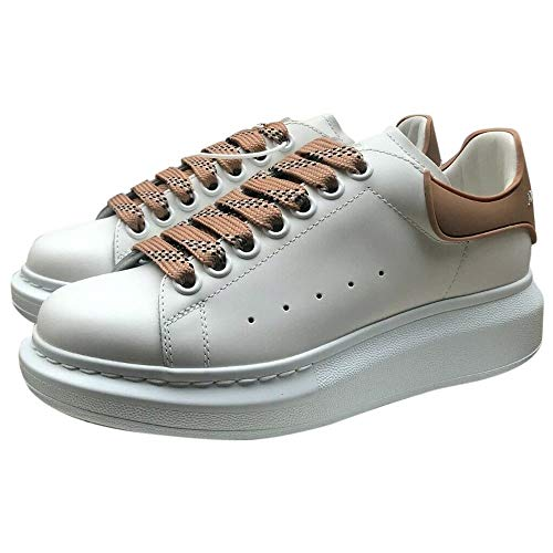 Alexander McQueen White/Brown Oversize Sneakers New/Authentic (36.5, Numeric_6_Point_5)