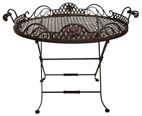 aubaho Butlers Tray Table Salon de Jardin d'appoint Fer Style Antique desserte Plateau